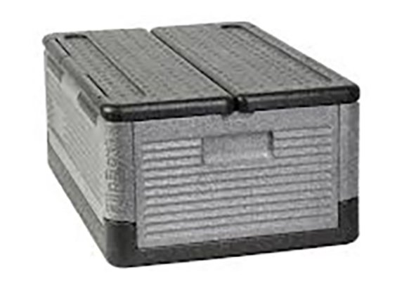 Flip box collapsible iceless cooler